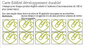 Fidélité - Développement durable - verso